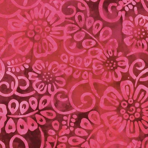Bali Batiks - Flower Patch Raspberry