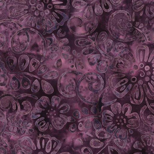 Bali Batiks - Flower Patch Grape