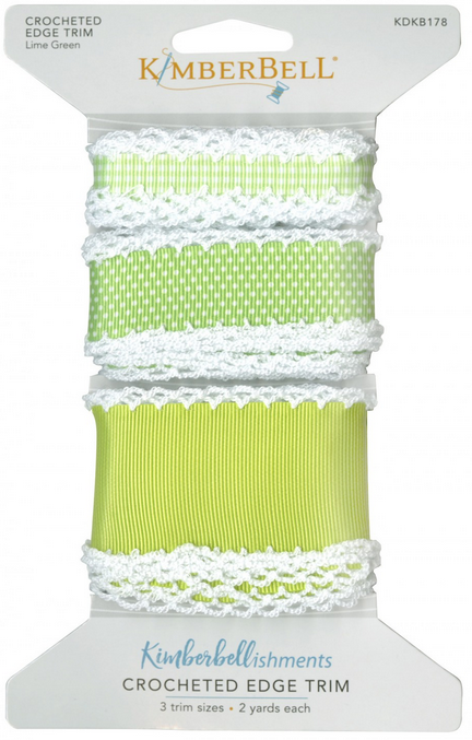 Kimberbell - Crocheted Edge Trim Lime Green xx