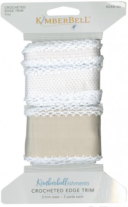 Kimberbell - Crocheted Edge Trim Grey xx