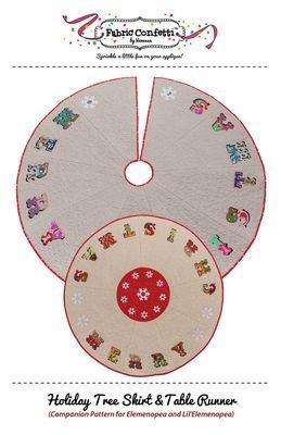 Fabric Confetti - Holiday Tree Skirt & Table Runner