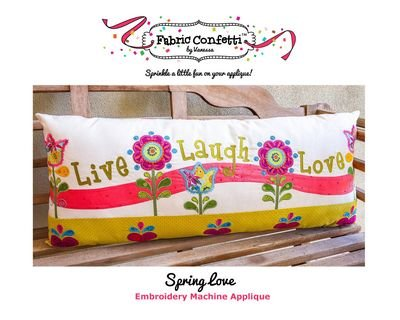 Fabric Confetti - Spring Love Bench Pillow
