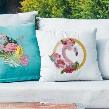 Scissortail Stitches - Floral Flamingo
