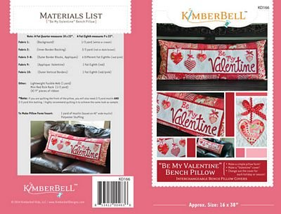 Kimberbell - Be My Valentine Bench Pillow (Sewing)