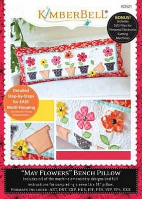 Kimberbell - May Flowers Bench Pillow