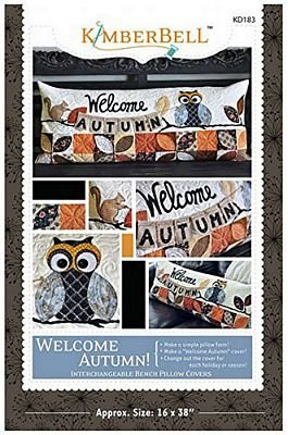 Kimberbell - Welcome Autumn Bench Pillow