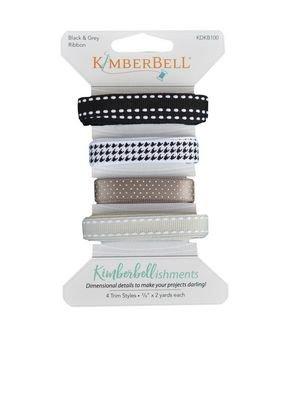 KimberBellishments - Ribbons Black & Grey
