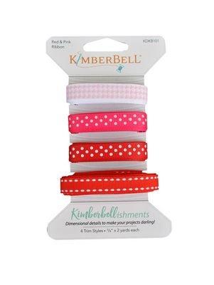KimberBellishments - Ribbons Pink & Red