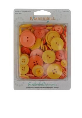KimberBellishments - Buttons Yellow & Orange