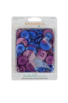 Kimberbell - Buttons Blues & Purples
