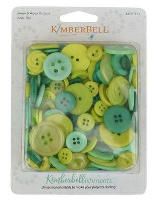KimberBellishments - Buttons Greens