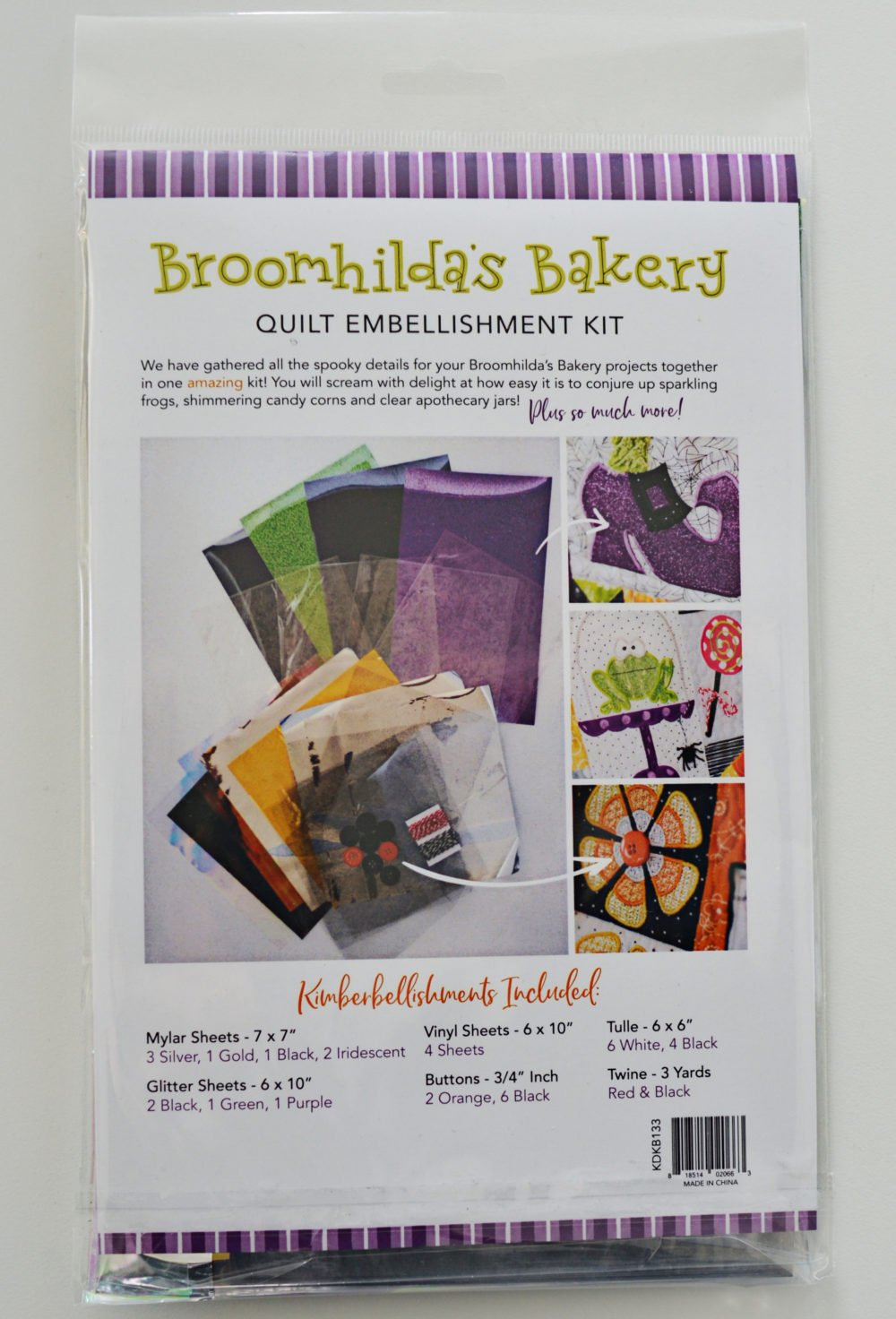 Kimberbell - Broomhilda's Bakery Embellishment Kit