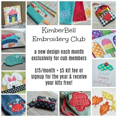 KimberBell Embroidery Club - Monthly