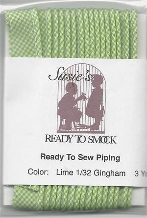 Piping - Gingham Lime