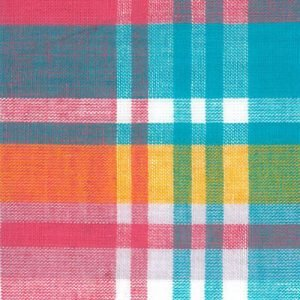 FF Madras Plaid - Pink Yellow Orange Blue