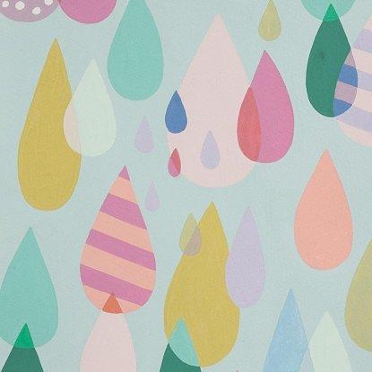 Alexander Henry - Raindrops Sheeting Pale Aqua