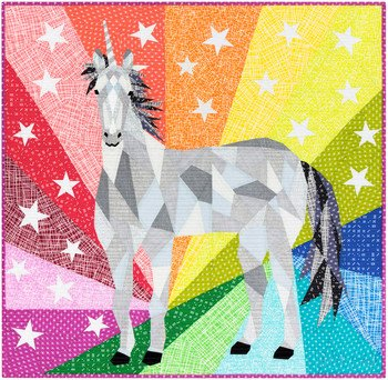 Quilt Kit - Unicorn and Horse Abstraction - Violet Craft