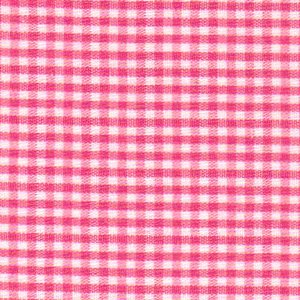 FF Gingham - Raspberry 1/16