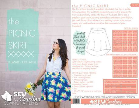 Sew Caroline - Picnic Skirt XX