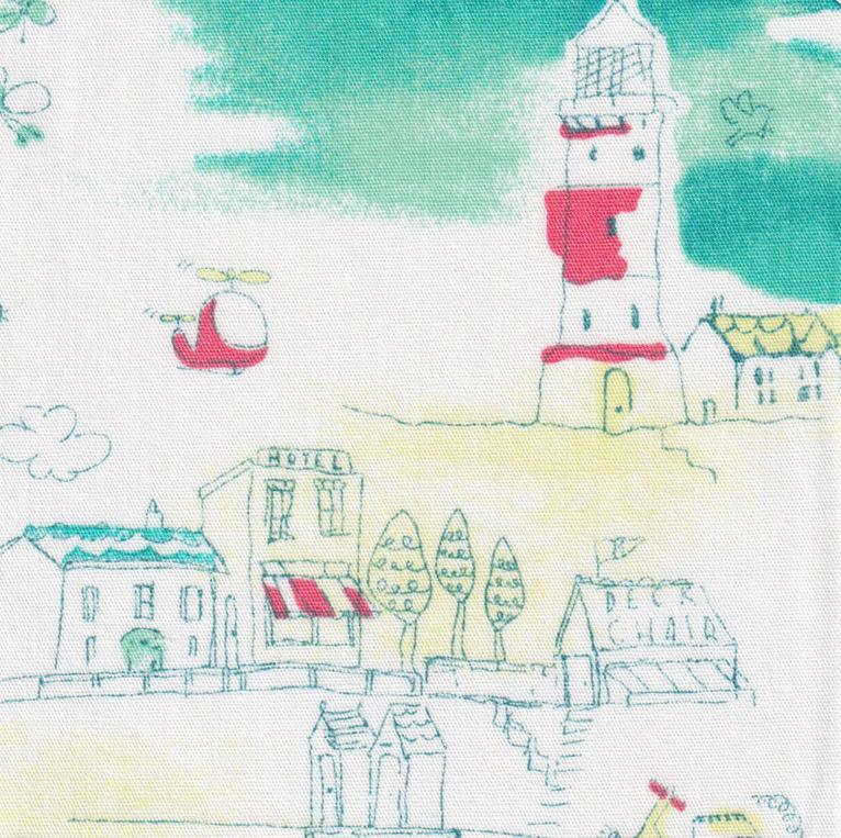 FF Print - Seacoast Village Fabric