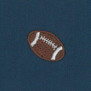 FF Print - Twill Footballs on Navy