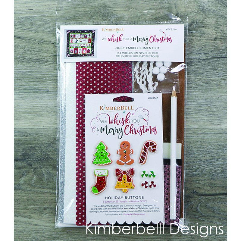 Kimberbell - We Whisk You a Merry Christmas Quilt Embellishment Kit