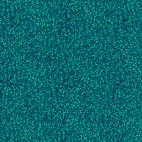 120-3003 Classique Leaf Stems Turquoise