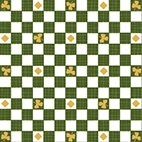 24223 Z Lucky Shamrocks Check Green