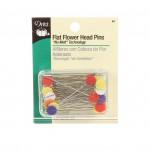 Dritz Flat Flower Head Pins 50 ct No Melt