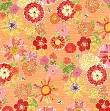 Orange Packed Floral 68459-837