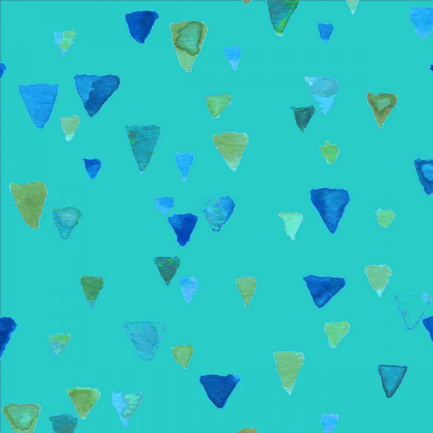 9853-0120 Teal Sea Glass Shards