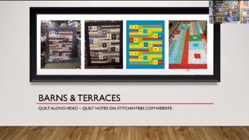 Barns & Terraces Quilt Along Video