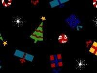 Christmas Toss on Black