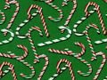 Candy Canes on Green