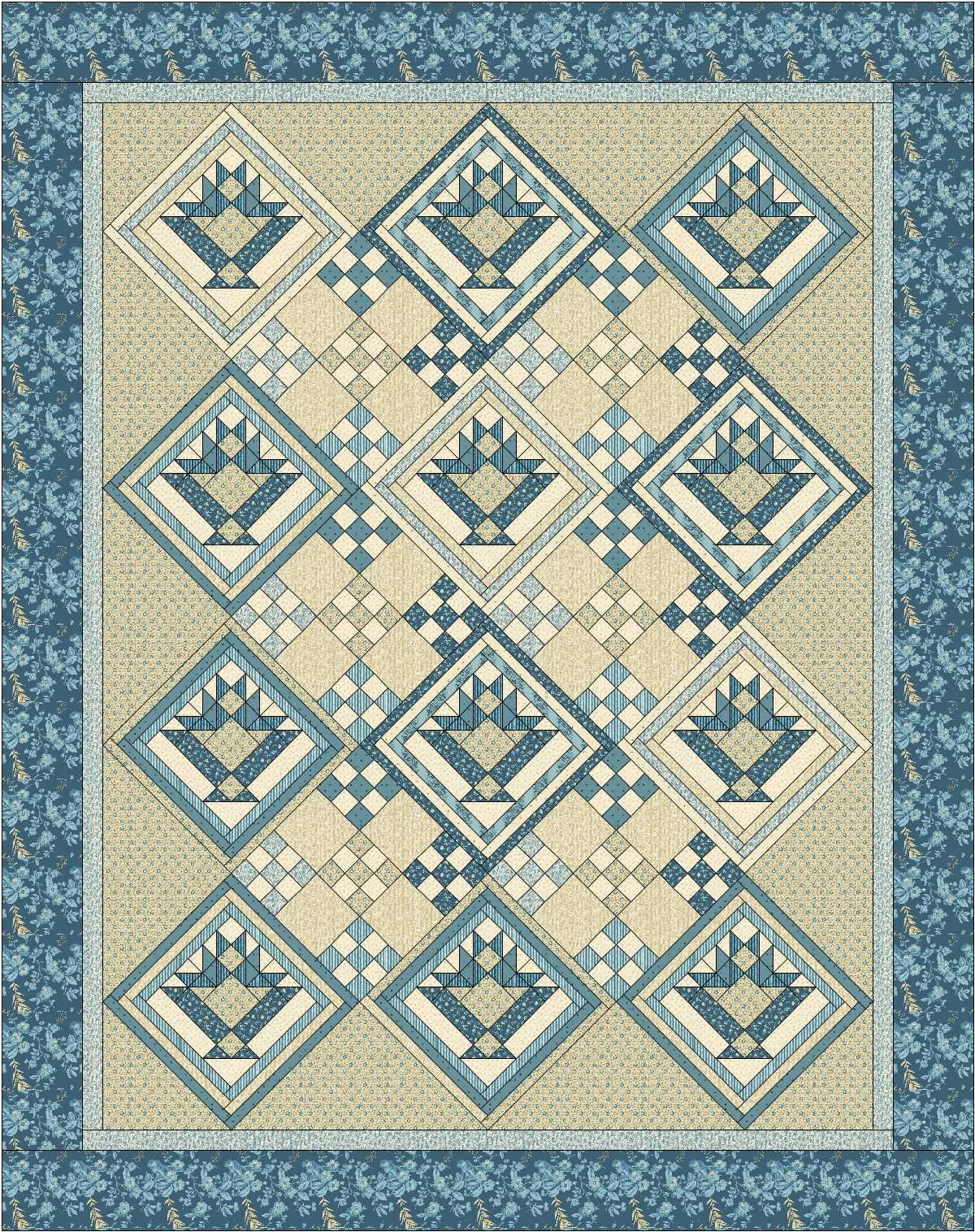 Blue By You Festival Quilt Setting Kit