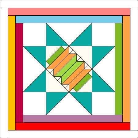 COVID Friends Block 1 Chinese Lantern Electronic PDF Pattern Download