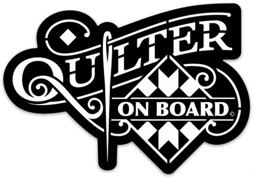 Quilter On Board Car Decal