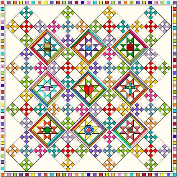 COVID Friends Background Cutting Instructions Electronic PDF Pattern Download
