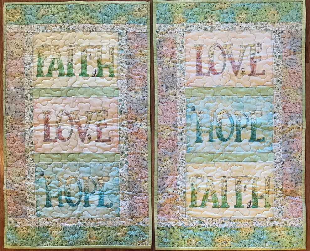Faith Hope Love Triple Wall Hanging Kit