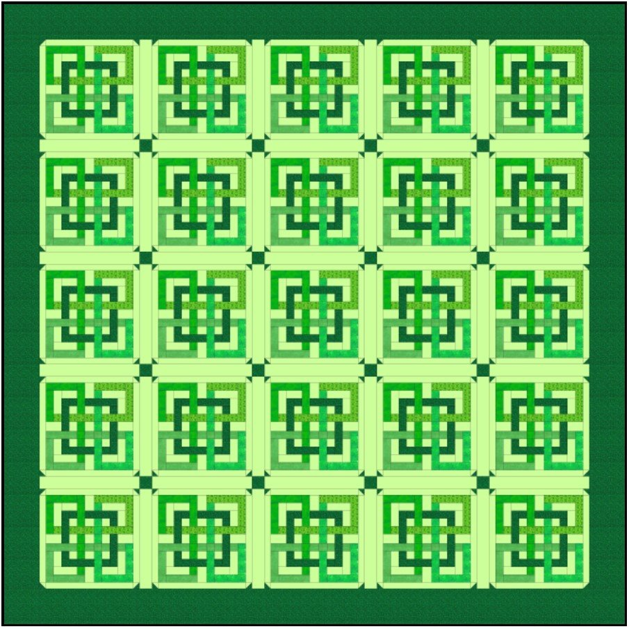 Four Get Me Knot King Quilt Electronic Download Pattern 106x106