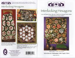 8514 Interlocking Hexagons Marti Michell Pattern