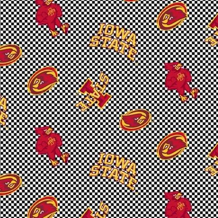 ISU 1132 Iowa State Checkered Cotton