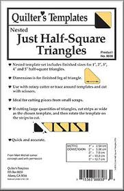 Just Half-Square Triangles 5 pc. Nested Templates