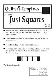 Just Squares 5 pc. Nested Templates