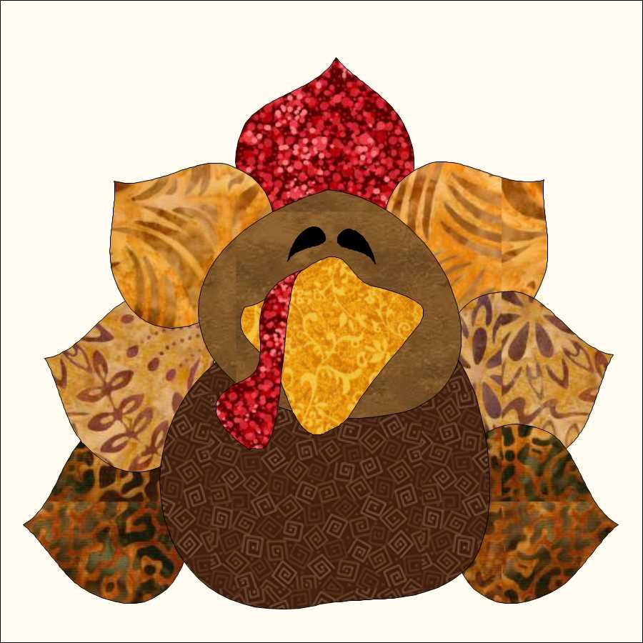 Just Tom Turkey Applique Pattern