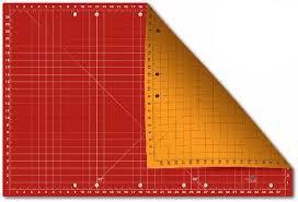 Cutting Mat 38217 Orange Grid