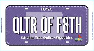 Qltr of Faith Fabric Plate
