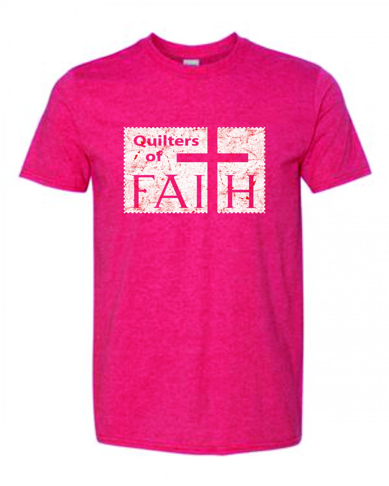 Quilters of Faith SS T H Red