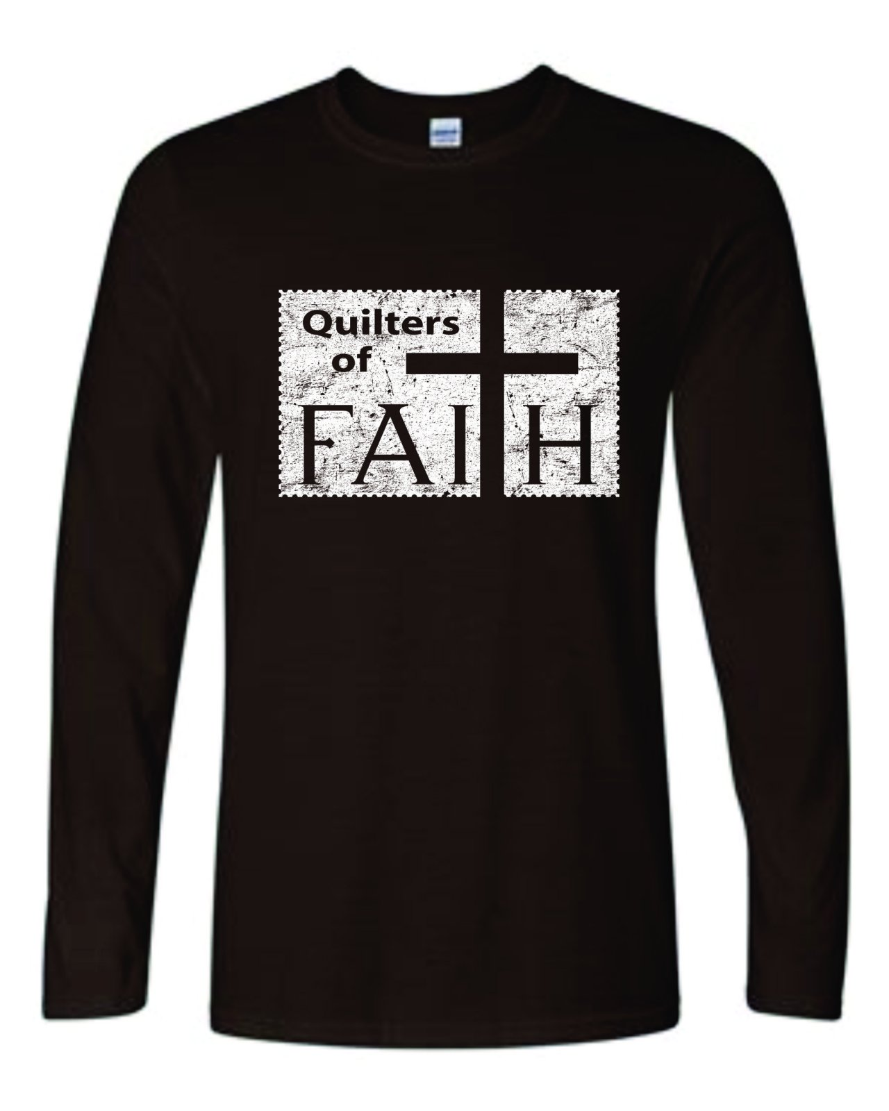 Quilters of Faith LS T Chocolate