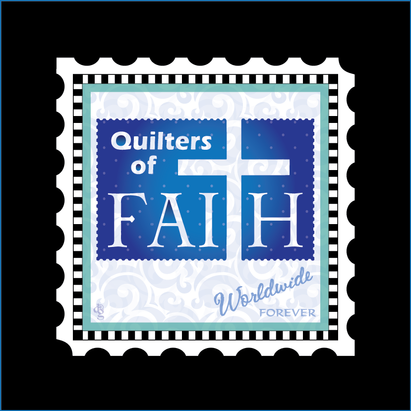 Quilters of Faith Logo Block Charm Stamp
